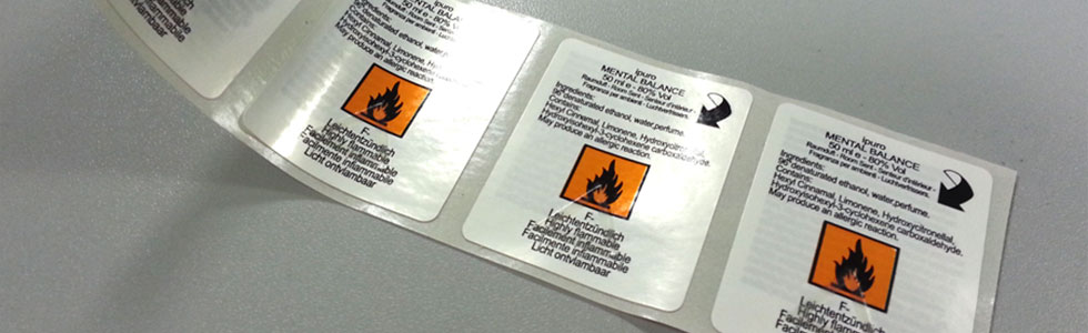 Twin label, booklet and leaflet label